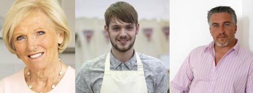 Mary Berry, John Whaite and Paul Hollywood