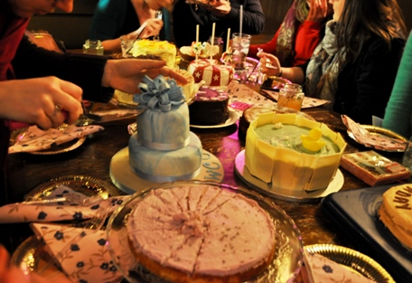Cutting into the Clandestine Cakes
