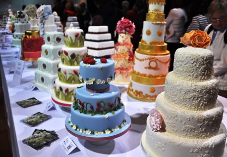 Wedding Cakes at Squires Exhibition 2013